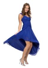 Astrapahl, Cocktaikleid, Abendkleid, breite Täger, Festkleid, Brautkleid, lang, Farbe blau, Gr.36 - 1