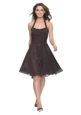 Astrapahl, Neckholder Cocktailkleid, Abendkleid, Festkleid, knielang, Farbe braun, Gr.40 - 1