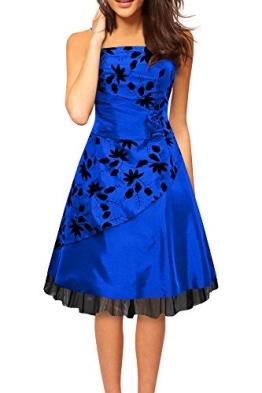 Black Butterfly 'Sia' Satin Essence Abschlussballkleid (Blau, EUR 38 - S) - 1