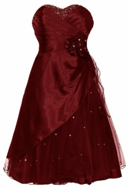 "Cocktailkleid / Ballkleid mit Tüll ""Mary"" Weinrot/Bordeaux (46) - 1"