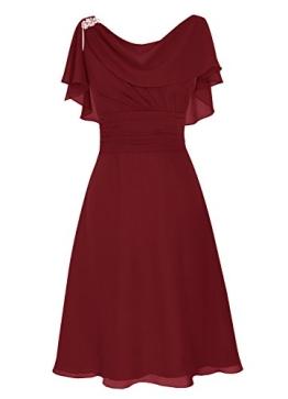 Dresstells Damen Abendkleider Homecoming Kleider Abiballkleider Burgundy Größe 44 - 1