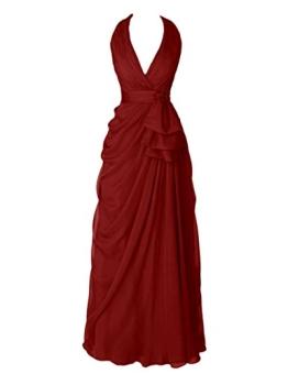 Dresstells Damen Brautjungfernkleider lang Homecoming Kleider Party Kleider Burgundy Größe 36 - 1
