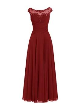 Dresstells Damen Lange Homecoming Kleider Brautjungfernkleider Abendkleider Burgundy Größe 40 - 1