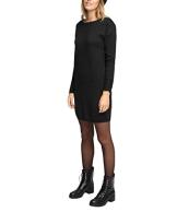 edc by ESPRIT Damen Schlauch Kleid aus Strick, Midi, Gr. 42 (Herstellergröße: XL), Schwarz (BLACK 001) - 1