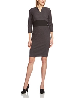 ESPRIT Collection Damen Etui Kleid klassisch, Knielang, Einfarbig, Gr. 36 (Herstellergröße: S), Grau (GRAPHITE GREY MELANGE 059) - 1