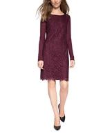 ESPRIT Collection Damen Kleid 095EO1E002, Knielang, Gr. 38 (Herstellergröße: M), Rot (BORDEAUX RED 600) - 1