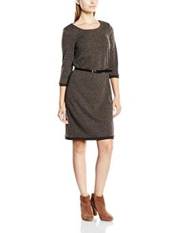 ESPRIT Collection Damen Kleid mit abnehmbarem Gürtel, Midi, Gr. 40 (Herstellergröße: L), Braun (DARK BROWN 200) - 1