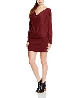 ESPRIT Damen Strick Kleid mit weichem Griff, Knielang, Gr. 40 (Herstellergröße: L), Rot (BORDEAUX RED 2 601) - 1