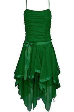 Fast Fashion Frauen Kleid Plain Zickzack Chiffon Prom Party Saum Mit Rüschen Gürtel Tie - 1