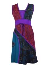 Frauen stretch Baumwolle ärmelloses Kleid mit Stickerei Lizard - DAISY S - 1