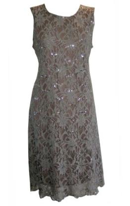 Grau (Sequin Dress) schönes, funkelndes Cocktailkleid. Gr. 42 - 1