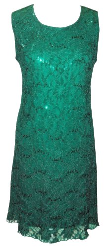 Grün (Sequin Dress) schönes, funkelndes Cocktailkleid. Gr. 42 - 1