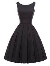 Luouse Sommer Damen Ohne Arm Kleid Dress Vintage petticoat kleid Junger abendkleid - 1