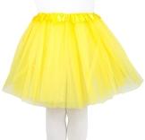Mädchen Kinder Tüllrock Tütü Tutu Petticoat Ballettrock Tanzkleid Ballettkleid in verschiedenen Farben (Gelb) - 1