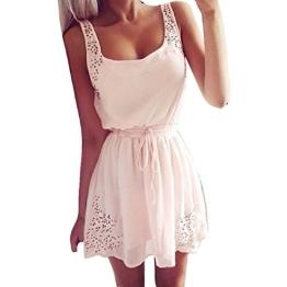 Malloom® Sexy Sommer Beiläufige Kleider Frauen Ärmelloses Cocktail Kurzes Minikleid (XS, weiß) - 1