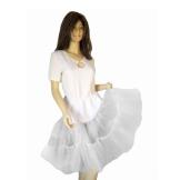 Petticoat F Tellerrock weiß Kleid Rock Petticoats P08 - 1