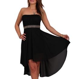 Vokuhila Kleid Bandeaukleid aus Chiffon mit Spitze