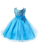 Showtime Mädchen Kleid Pinzessin Kostüm - Blau - ca. Alter 7 bis 8 (in Jahren) - 1