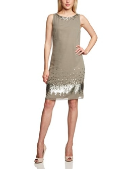 Vera Mont Damen Cocktail Kleid 2239/4716, Midi, Einfarbig, Gr. 40, Grau (Shady Reed 7333) - 1