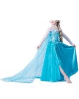 Vogueeasy Eiskönigin Prinzessin Kostüm Kinder Glanz Kleid Mädchen Weihnachten Verkleidung Karneval Party Halloween Fest Kostüm 100 - 1
